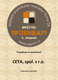 Certifikát - Top Czech Quality